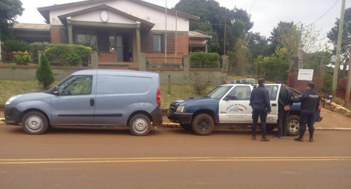 Dos detenidos y un utilitario secuestrado por un hecho de robo de ganado en Dos de Mayo