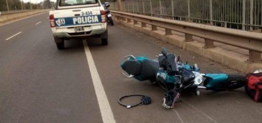 Otros dos motociclistas heridos en accidentes en el Gran Posadas