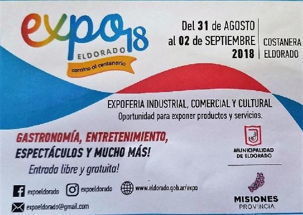 Este viernes arranca la Expo Eldorado 2018