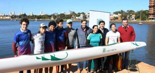 La EBY entregó un kayak de alta competencia a la Asociación Misionera de Canoas y Kayaks