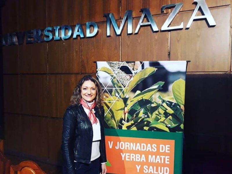 Participando de la V jornada de Yerba Mate y Salud en la ciudad de Mendoza
