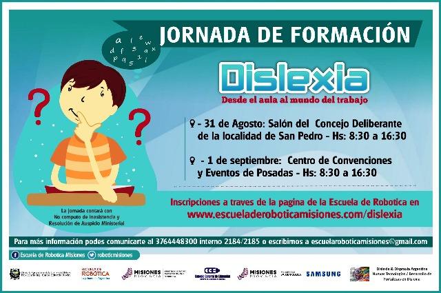 Capacitarán sobre dislexia en San Pedro y Posadas