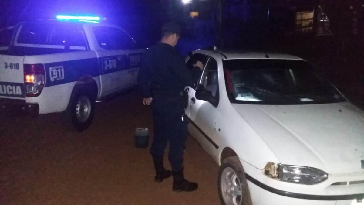 San Vicente: robó un auto, quedó sin nafta y fue detenido