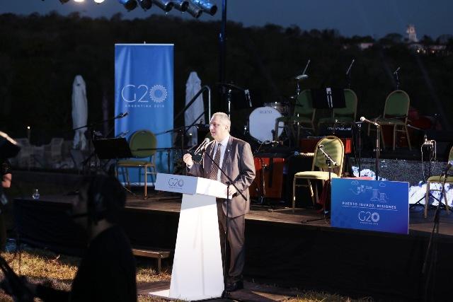 Passalacqua dio la bienvenida a participantes del G20 que discute en Puerto Iguazú estrategias para la acción climática