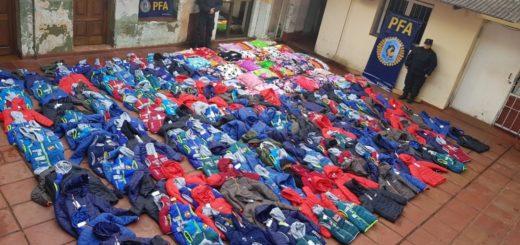 Posadas: decomisaron dos cargamentos de mercadería ilegal valuados en casi medio millón de pesos