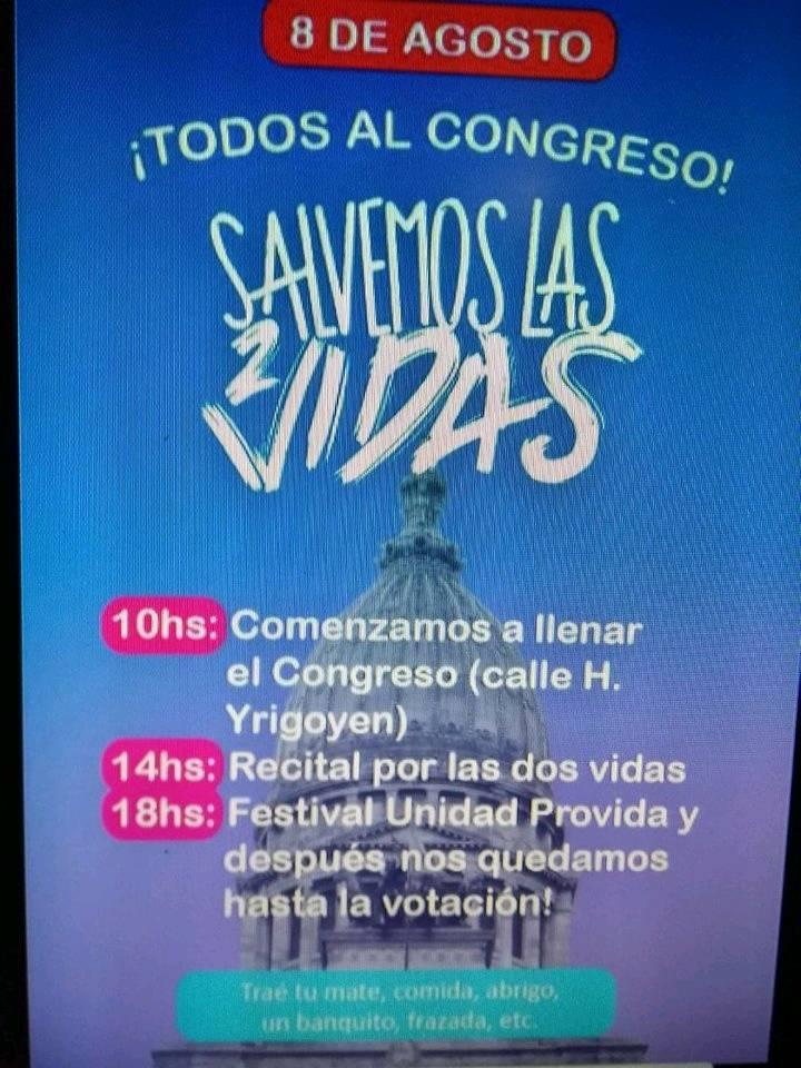 Se espera una histórica y tensa jornada del #8A frente a la definición en el Congreso por la despenalización del aborto en la Argentina