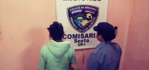 Detienen a una mujer que atacó a su concubino con un cuchillo en Posadas