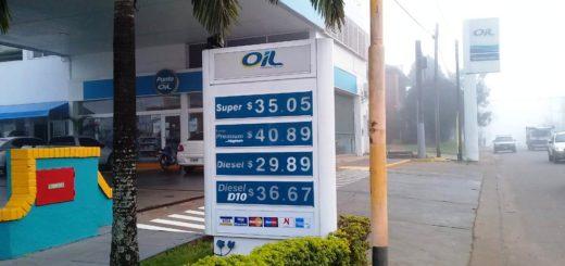 Nuevamente subieron los combustibles en Posadas y la nafta Premium promedia los 41 pesos