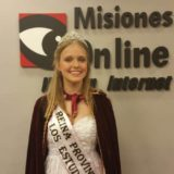 Kiara Wipplinger, la reina de los estudiantes misioneros ya está en Jujuy para competir por el cetro en la Fiesta Nacional de los Estudiantes