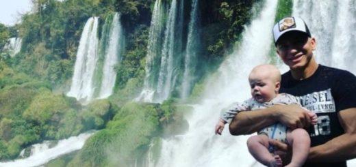 El coreógrafo Flavio Mendoza visitó junto a su hijo las Cataratas del Iguazú