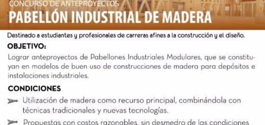 Recuerdan que sigue abierta la convocatoria para el concurso de anteproyectos de pabellones industriales de madera