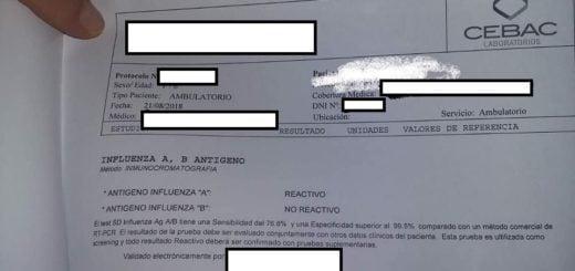 Confirman cuatro nuevos casos de Gripe A en Posadas, se trata de estudiantes del Instituto San Alberto Magno