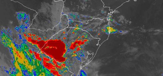 Viernes con lluvias, tormentas eléctricas, alta probabilidad de granizo en Misiones