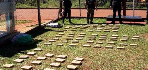 La Policía incautó 102 panes de marihuana en Santiago de Liniers
