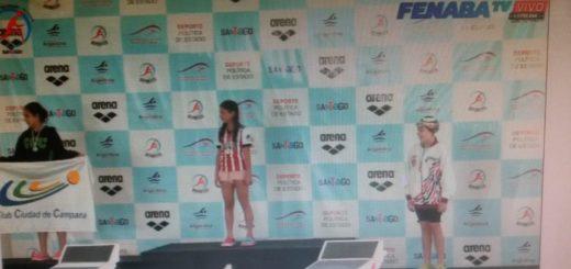 Natación: Macarena Aguirre le dio hoy al Club Capri el primer podio en el Campeonato Nacional Infantiles y Menores