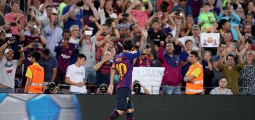 Con dos goles de Messi, Barcelona goleó en su debut en La Liga