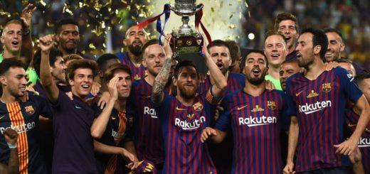 Barcelona conquistó la Supercopa de España y Messi se convirtió en el jugador más ganador de la historia de ese club