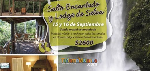 Turismo Misiones te invita a disfrutar de una nueva salida grupal desde Posadas a Salto Encantado y Lodge de Selva