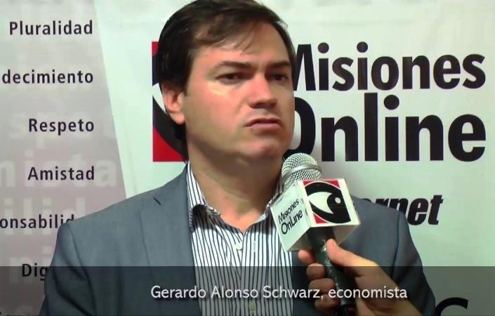 """Para el economista Gerardo Alonso Schwarz, """"a Misiones le benefició ser una provincia fronteriza y su rol como exportadora"""""""