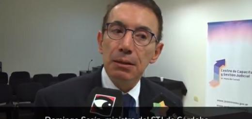 Para el ministro del STJ de Córdoba, Domingo Sesín hay que agilizar la justicia en la medida que se garanticen los derechos