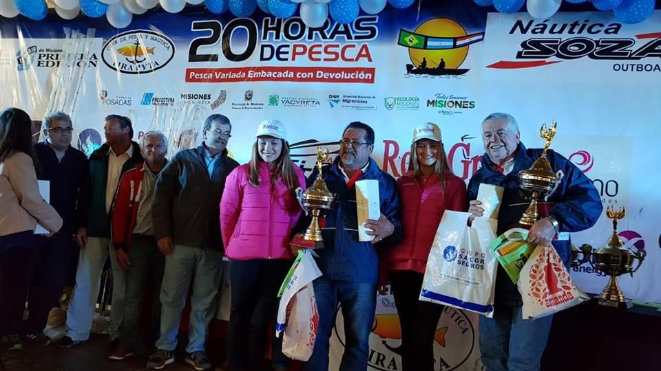 Las 20 Horas de Pesca quedó en manos de los hermanos Carlos y Matías Portillo de Asunción