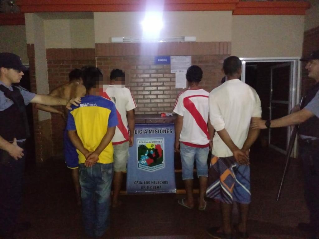 Los Helechos: seis detenidos por un intento de asalto en la casa de un trabajador rural