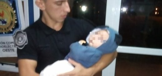Policías ponen a resguardo a un bebé de tres meses que estaba al cuidado del padre, totalmente ebrio