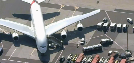 Alerta en Nueva York: ponen en cuarentena a un avión con 100 pasajeros enfermos