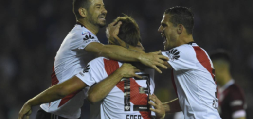 Superliga: con un equipo alternativo River goleó a Lanús