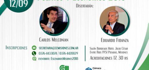 Desde la CEM reiteraron la invitación a la charla debate que contará con la presencia de Carlos Melconian y Eduardo Fidanza