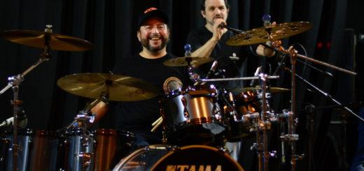 """Jorge """"Tanque"""" Iglesias y Sergio Masciotra brindaron una clínica de batería en Posadas"""