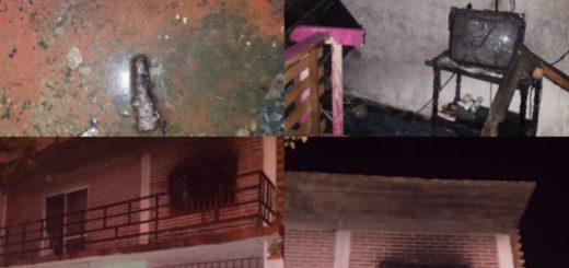 Se incendió parte de un departamento en la avenida Francisco de Haro de Posadas