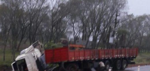 Camión se despistó cerca del peaje de Santa Ana