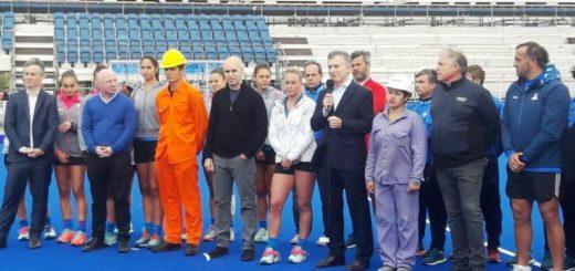 Macri recorrió las instalaciones donde se realizarán Juegos Olímpicos de la Juventud