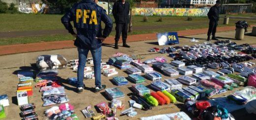 Posadas: incautan un cargamento de bienes ingresado al país por contrabando