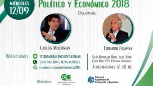 Melconian y Fidanza disertarán en Posadas sobre el Contexto Político y Económico actual