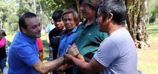 Reunión entre el vicegobernador de Misiones y Caciques de los Pueblos Originarios
