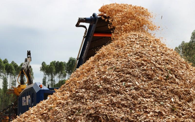 """#FeriaForestal2018: la brasileña Bruno Industrial exhibió la más grande """"chipeadora"""" que haya pisado suelo argentino"""