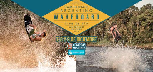 El Argentino de Wakeboard ya levanta olas en San Ignacio…Adquirí las entradas en Compras Misiones
