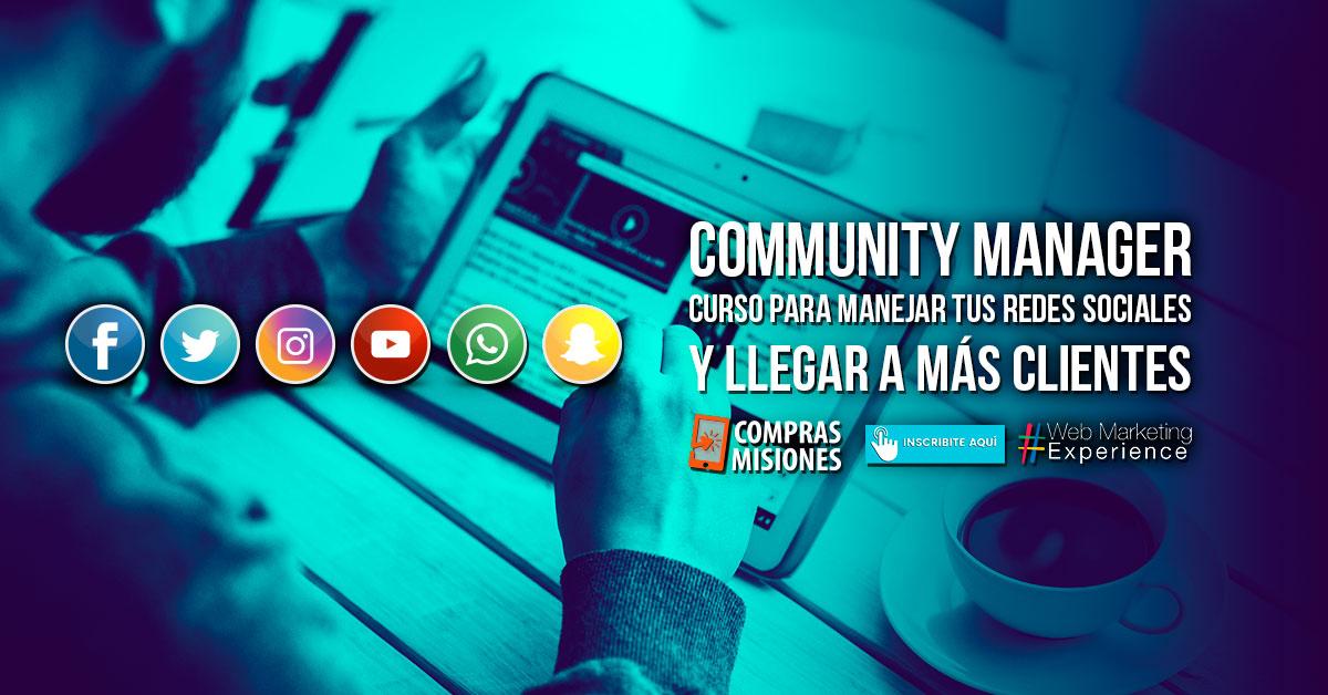 Curso presencial de Community Manager como base del emprendimiento…Inscribite en Compras Misiones