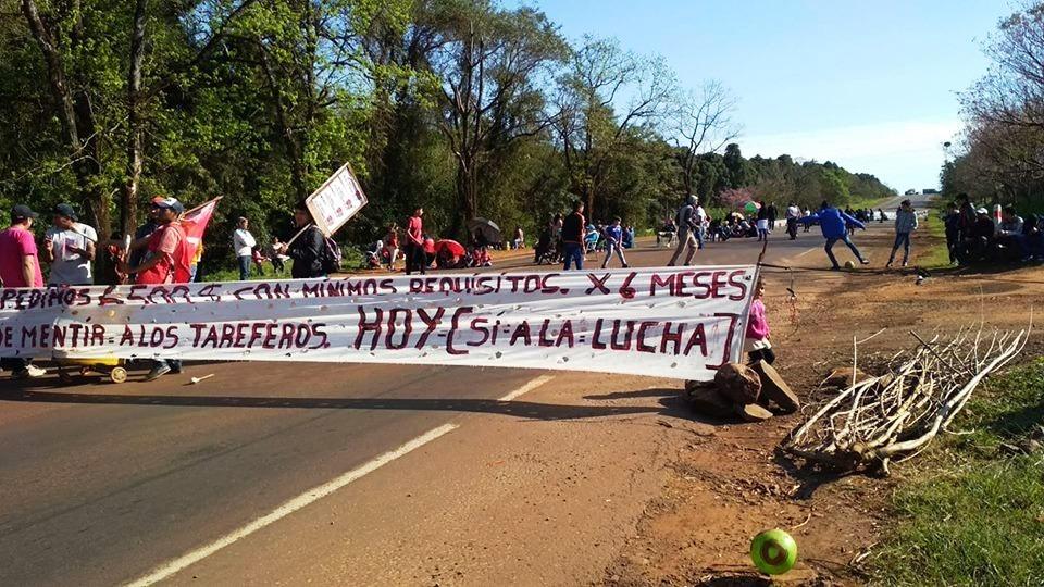 Vuelven los cortes en rutas de Misiones por la protesta tarefera