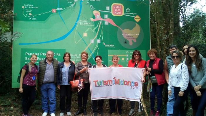 Turismo Misiones concretó una nueva salida grupal al Salto Encantado y Lodge de Selva