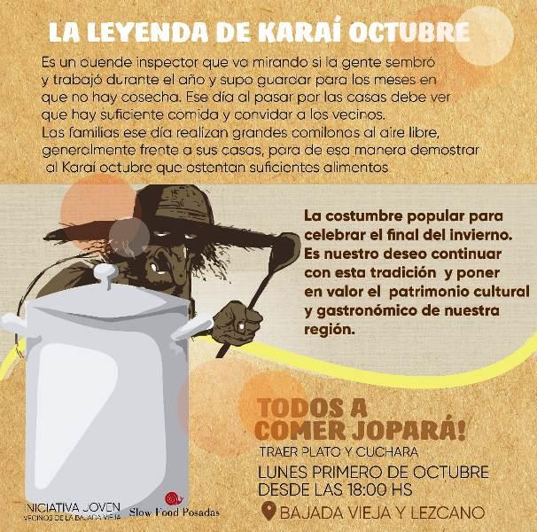 Siguen juntando donaciones para conmemorar al Karaí Octubre en la Bajada Vieja con un rico jopará comunitario