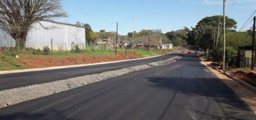 Vialidad concluyó la pavimentación de la Avenida Aguado de Posadas
