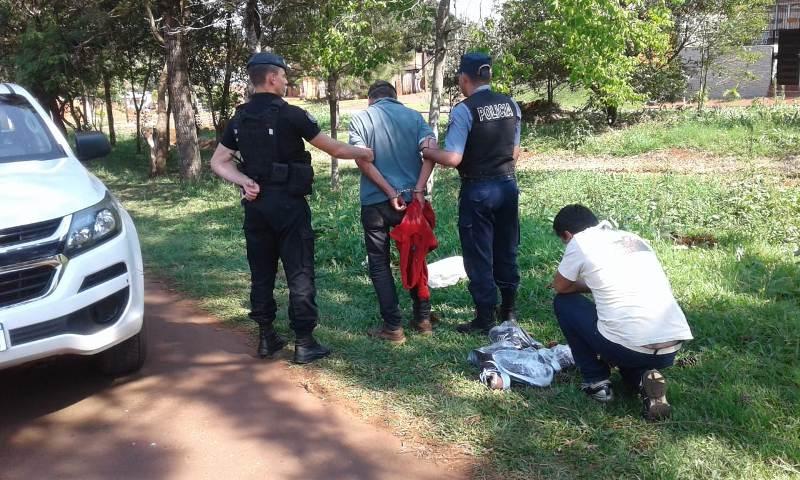 San Vicente: robó en un comercio quiso escapar y lo atraparon
