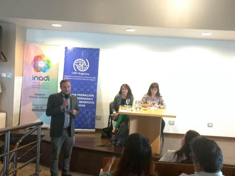 """Se realizó en Posadas la charla """"Soy Migrante"""" a cargo del INADI y la Organización Internacional para las Migraciones"""