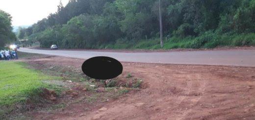 Accidente fatal en Eldorado: un hombre perdió la vida y buscan que lo reconozcan