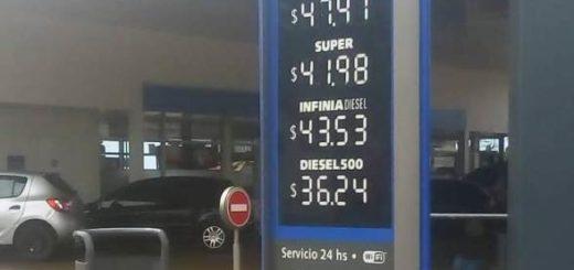Combustibles en Posadas: tras el aumento a principio de mes, YPF registra hoy nuevos incrementos