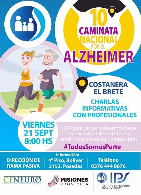 IPS estará presente en la edición 10 de la caminata nacional por el alzheimer