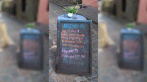 """""""Hoy por ti, mañana por mí"""": el cartel en un restaurante uruguayo con un mensaje para los argentinos"""